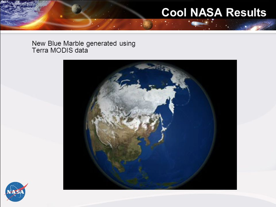Cool NASA Results New Blue Marble generated using Terra MODIS data