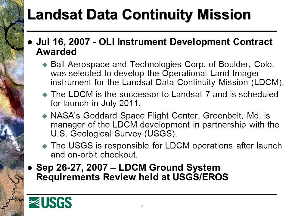 5 Looking to LDCM: Standard L1T Scope requirements via Pilot Landsat infrastructure Bandwidth requirements Right recipe.