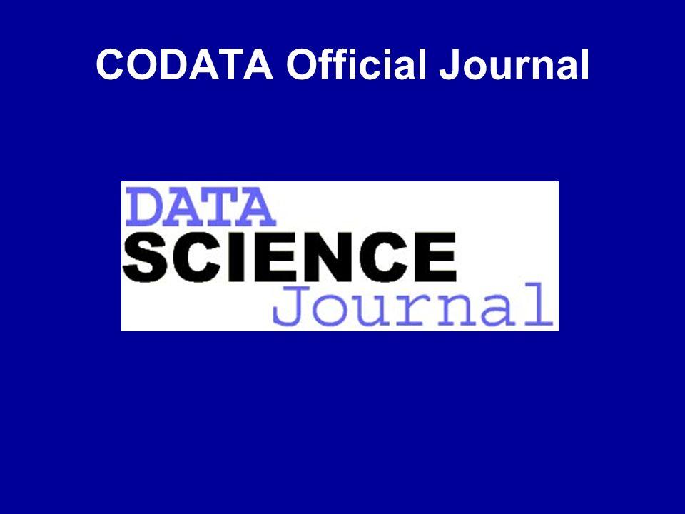CODATA Official Journal
