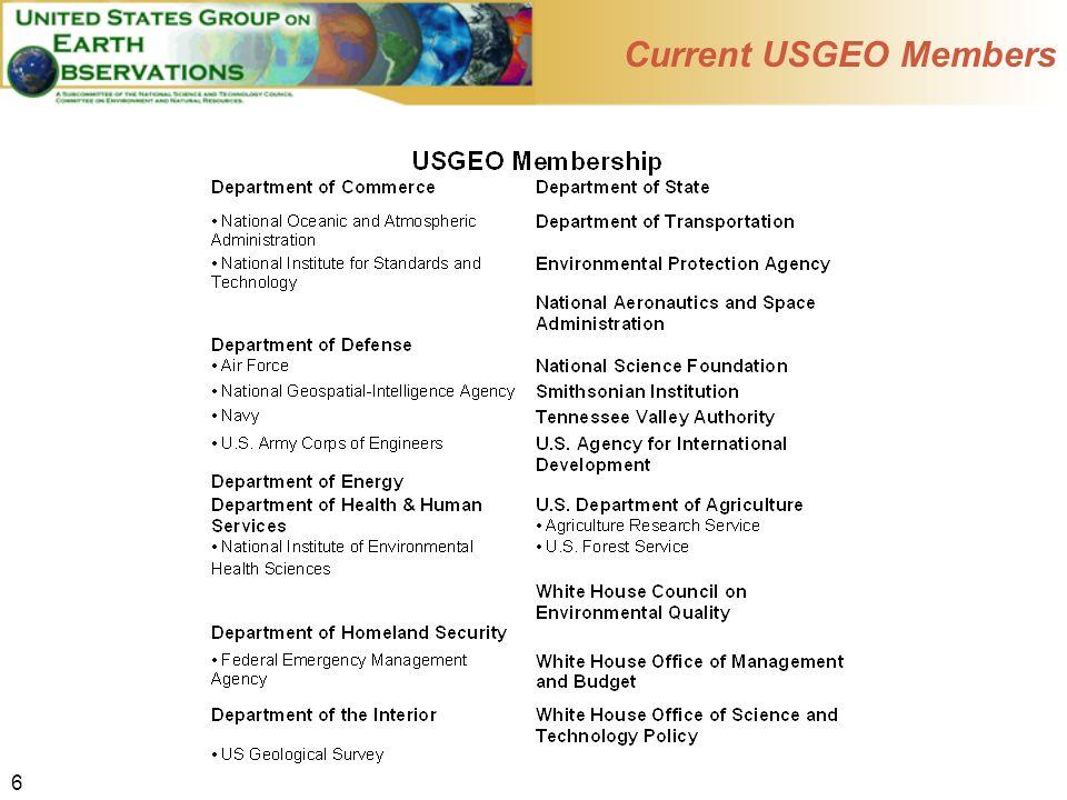 6 Current USGEO Members