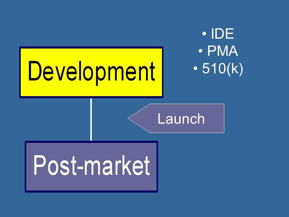 Launch IDE PMA 510(k)