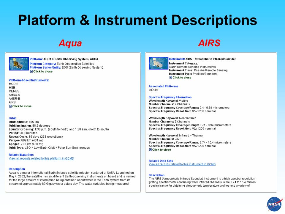 Platform & Instrument Descriptions AquaAIRS