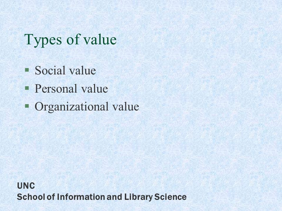 UNC School of Information and Library Science Principles of benchmarking client focused service based demonstrate value added by library staff reflect expanded roles easily compared across different settings easily and accurately counted open to change as required