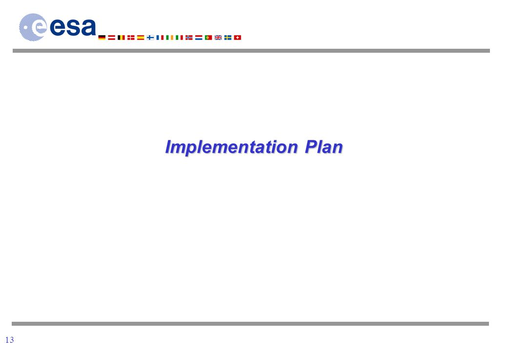 13 Implementation Plan