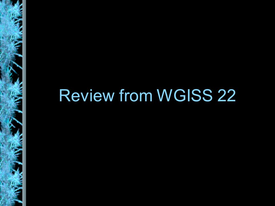 Review from WGISS 22