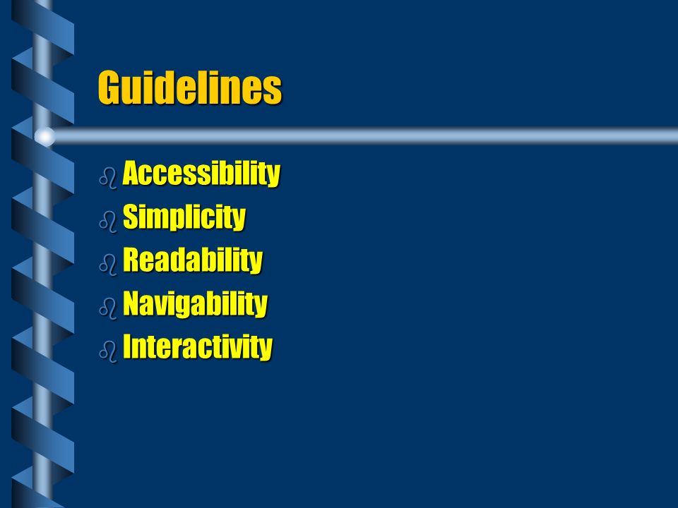 Accessibility: What is Purpose of Site.b Provide Information.