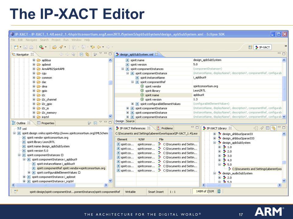 17 The IP-XACT Editor
