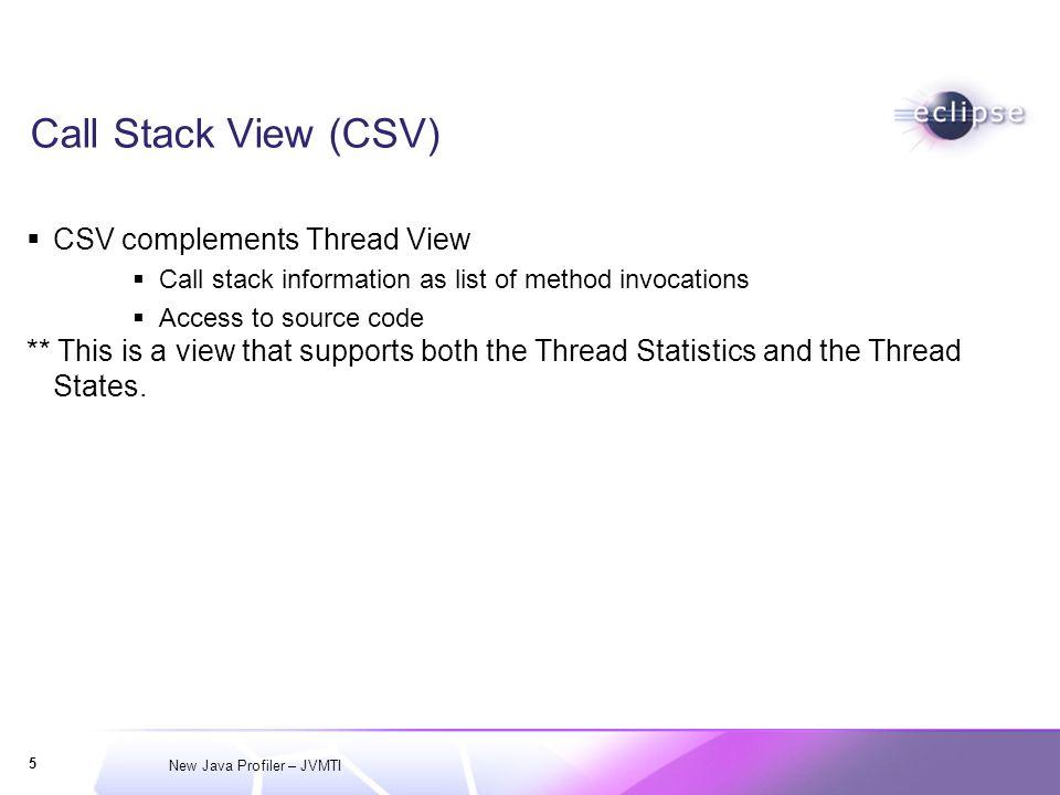 New Java Profiler – JVMTI 6 Thread States View