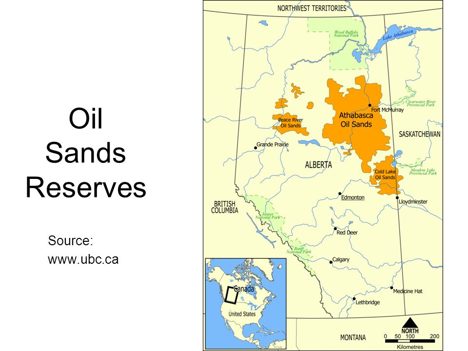 Oil Sands Reserves Source: www.ubc.ca