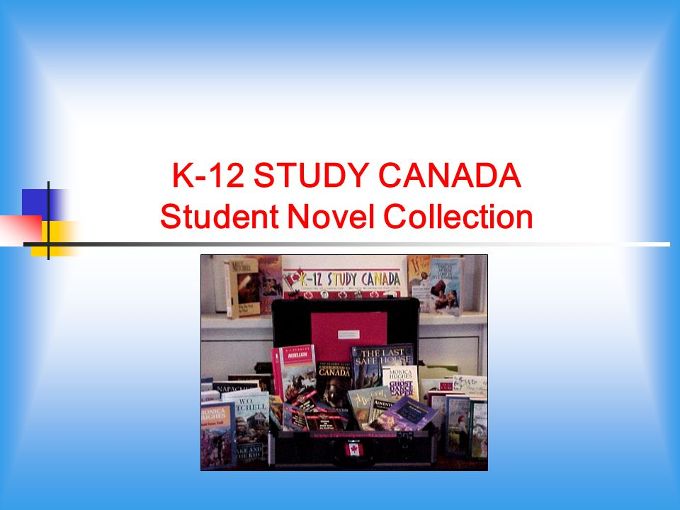 K-12 STUDY CANADA Student Novel Collection