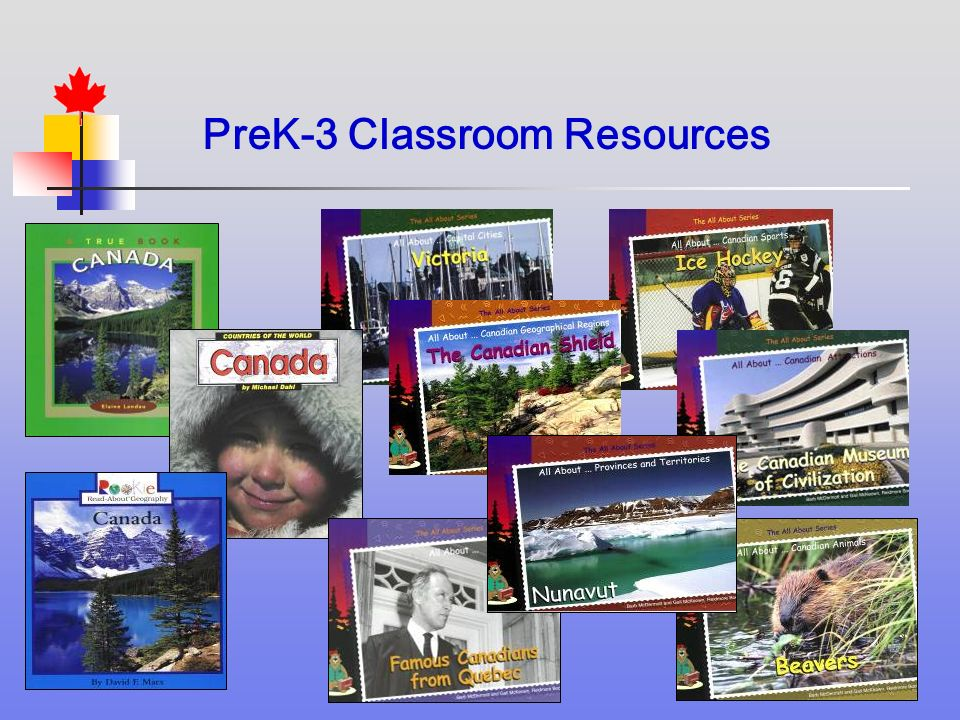 PreK-3 Classroom Resources