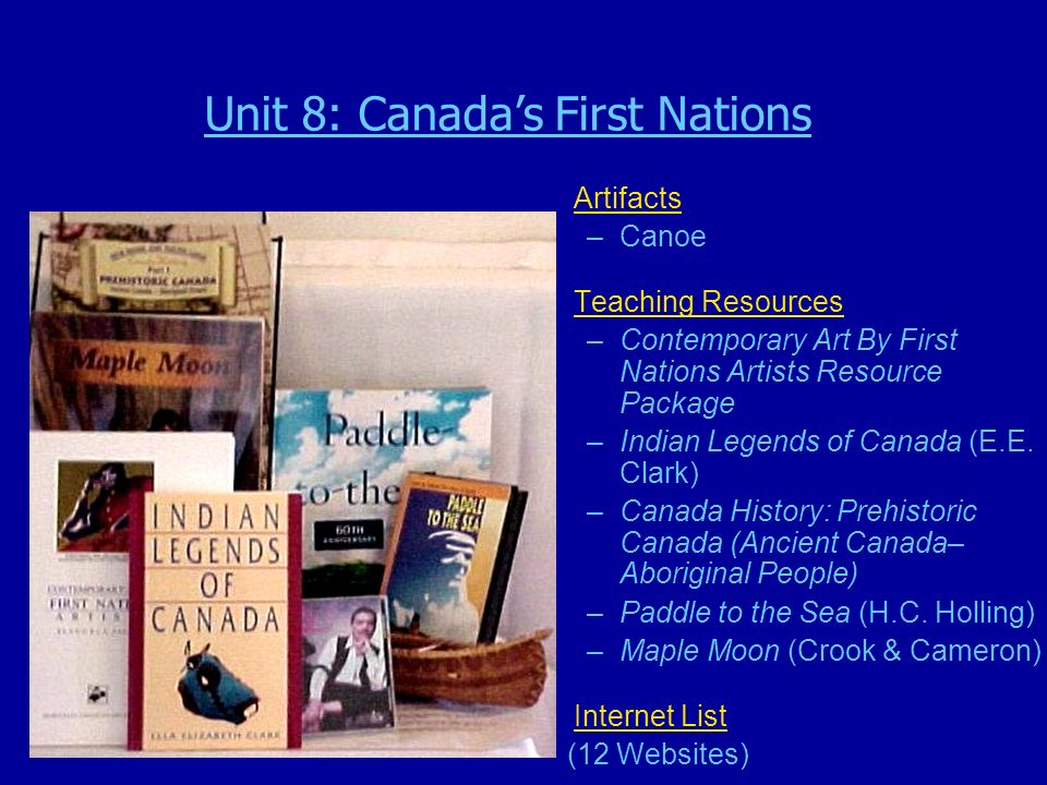 Artifacts –Canoe Teaching Resources –Contemporary Art By First Nations Artists Resource Package –Indian Legends of Canada (E.E.