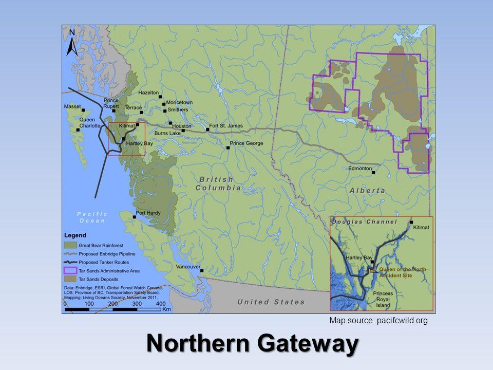 Northern Gateway Map source: pacifcwild.org