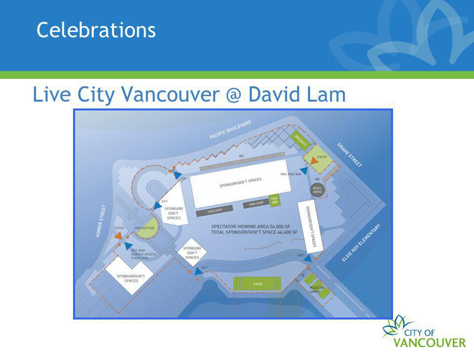 Celebrations Live City Vancouver @ David Lam