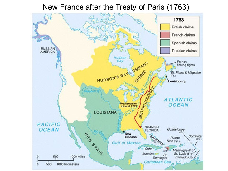 New France after the Treaty of Paris (1763)