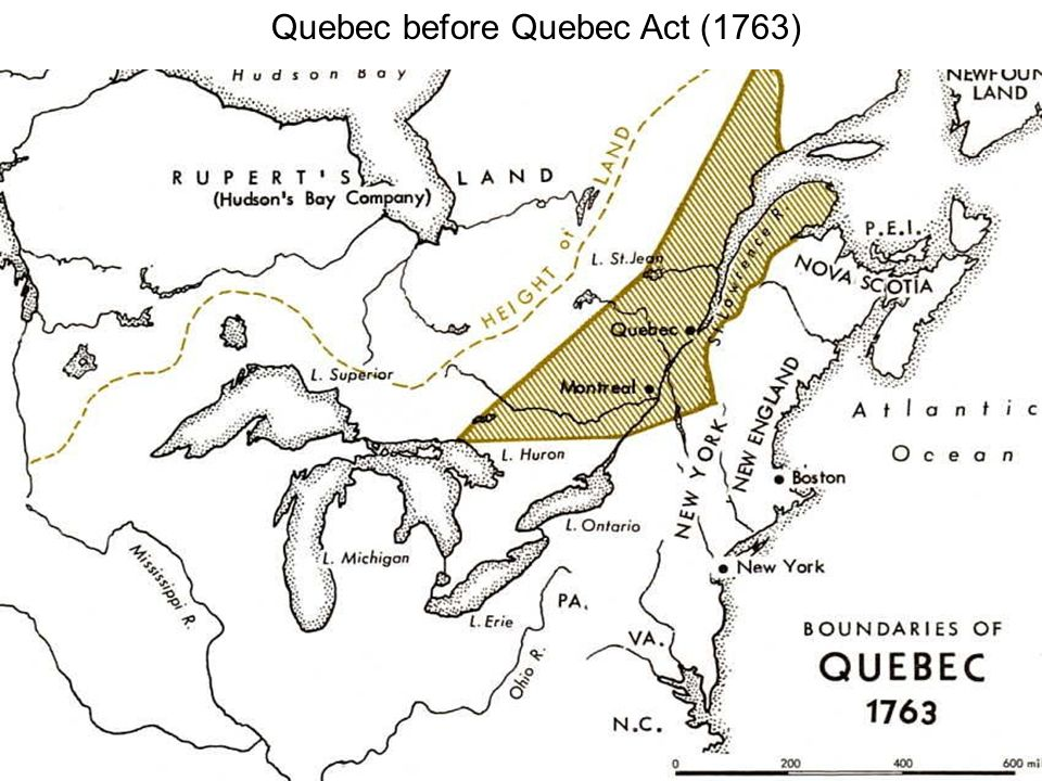 Quebec before Quebec Act (1763)