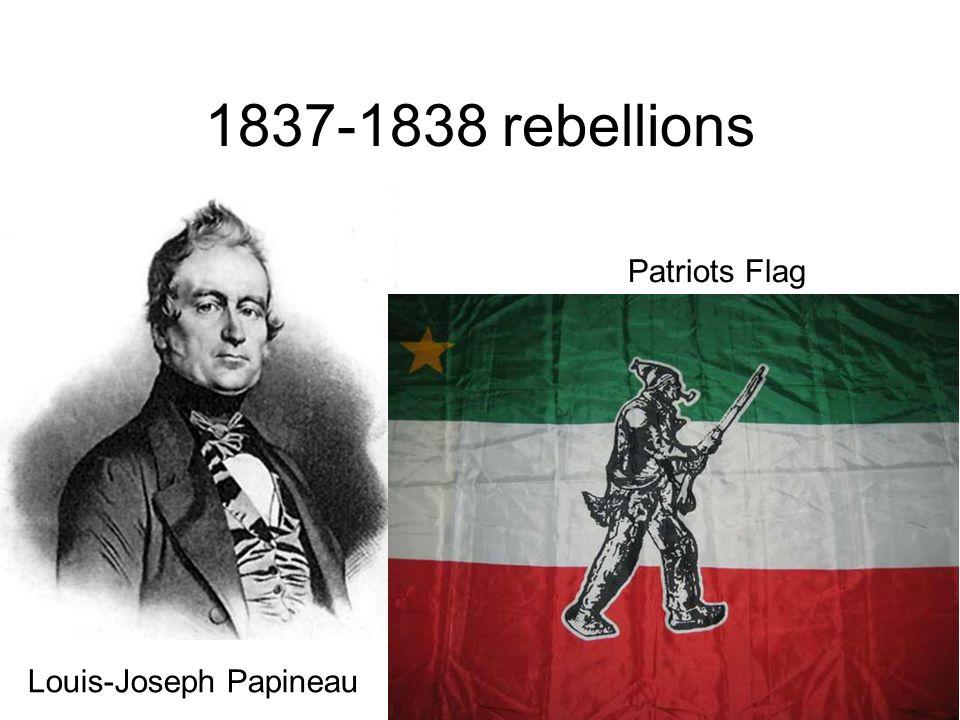 1837-1838 rebellions Louis-Joseph Papineau Patriots Flag