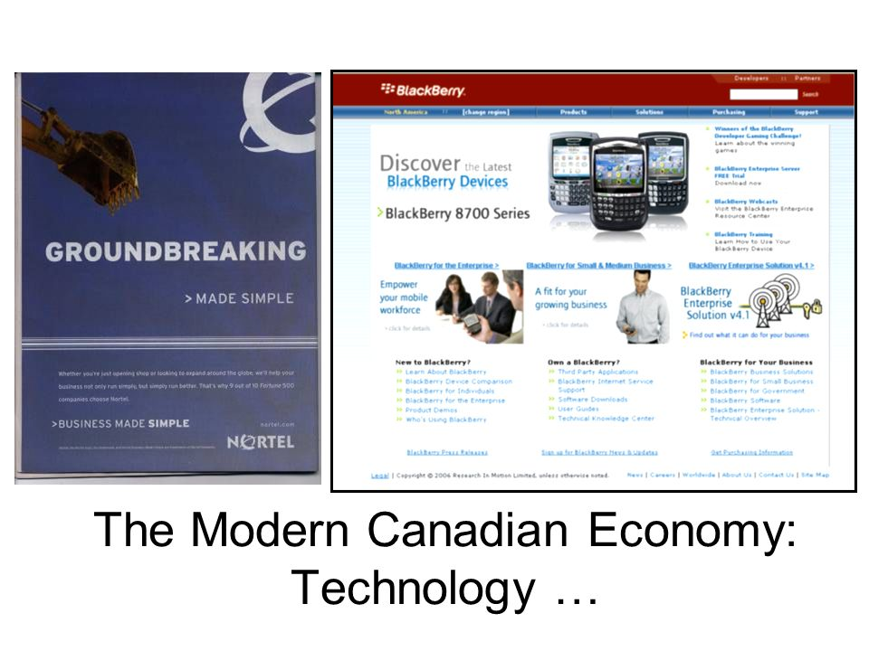The Modern Canadian Economy: Technology …