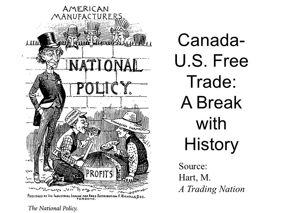 Source: Hart, M. A Trading Nation Canada- U.S. Free Trade: A Break with History