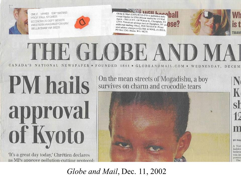 Globe and Mail, Dec. 11, 2002