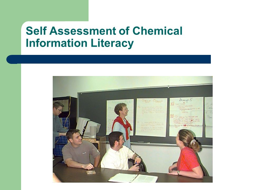Self Assessment of Chemical Information Literacy