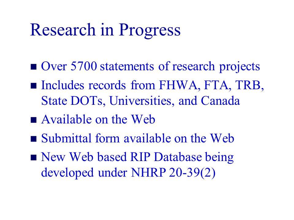 TRIS TRANSPORTATION RESEARCH INFORMATION SERVICES