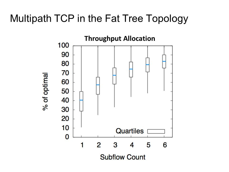 Multipath TCP in the Fat Tree Topology Throughput Allocation