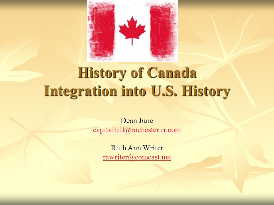History of Canada Integration into U.S.