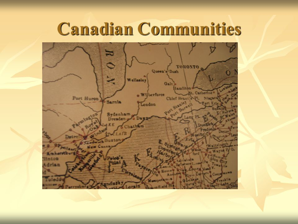 Canadian Communities