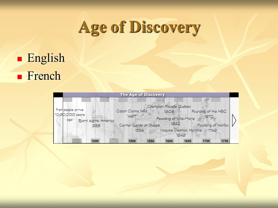 Age of Discovery English English French French