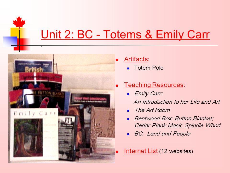 Unit 2: BC - Totems & Emily Carr.