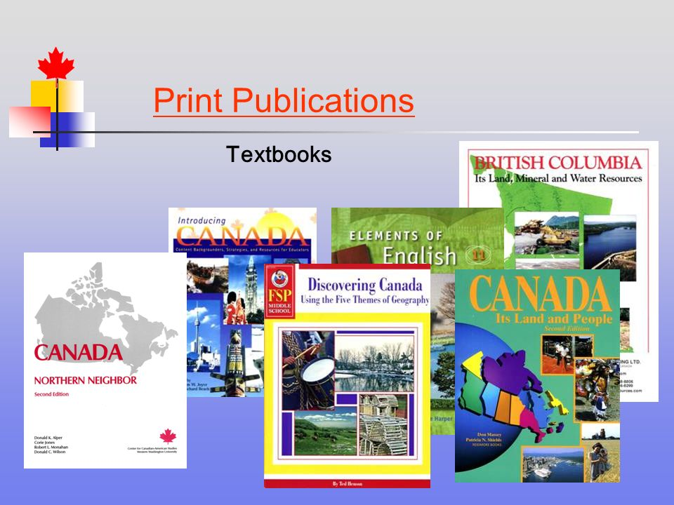 Print Publications Textbooks
