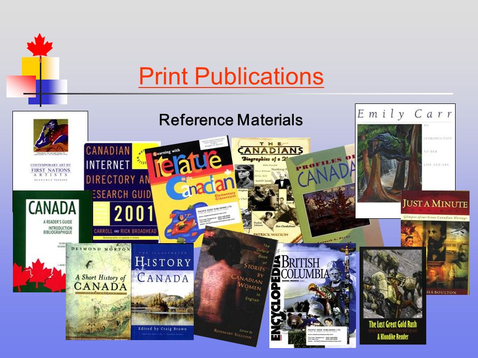 Print Publications Reference Materials