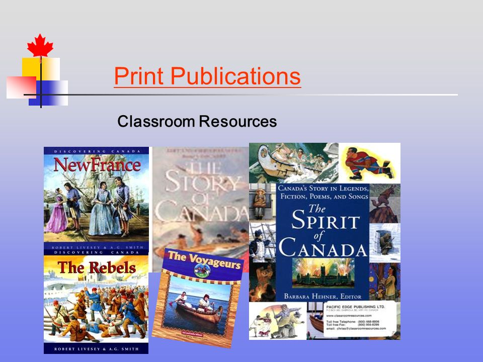 Print Publications Classroom Resources