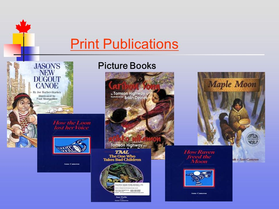 Print Publications Picture Books