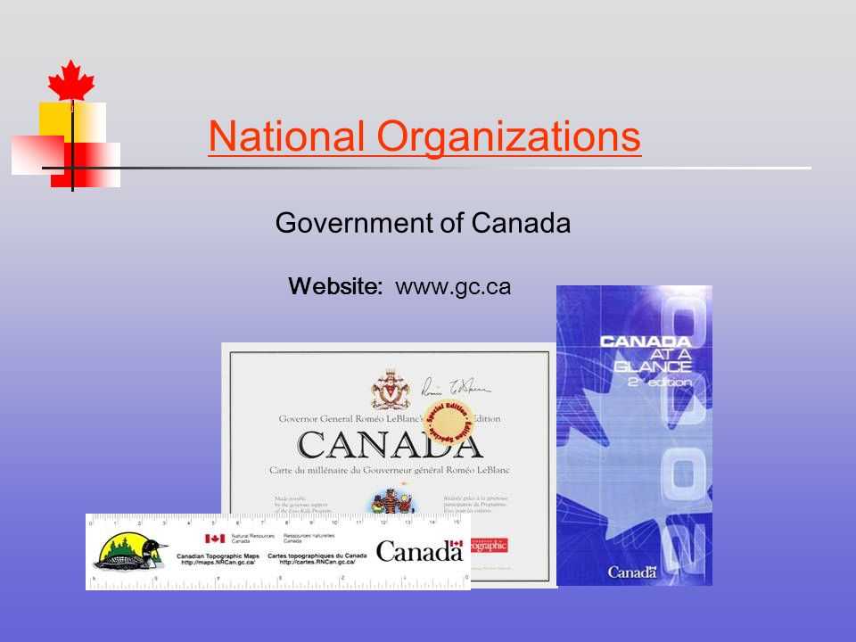 Government of Canada National Organizations Website: