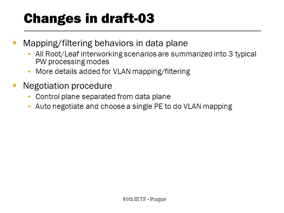 7 Copyright © 2004 Juniper Networks, Inc. Proprietary and Confidentialwww.juniper.net 80th IETF - Prague Changes in draft-03 Mapping/filtering behavio
