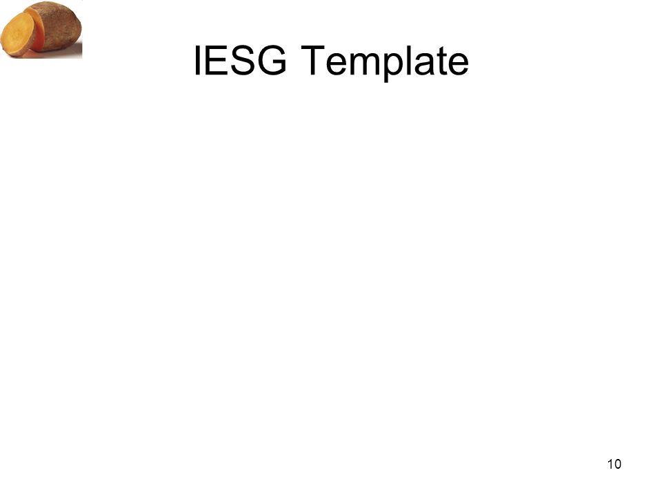 IESG Template 10