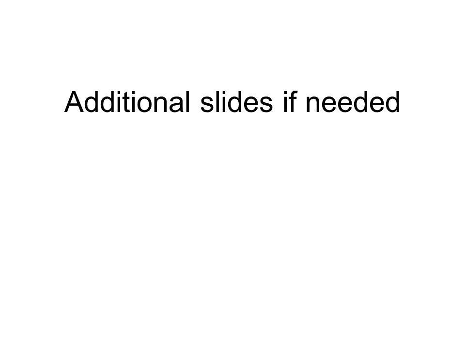 Additional slides if needed