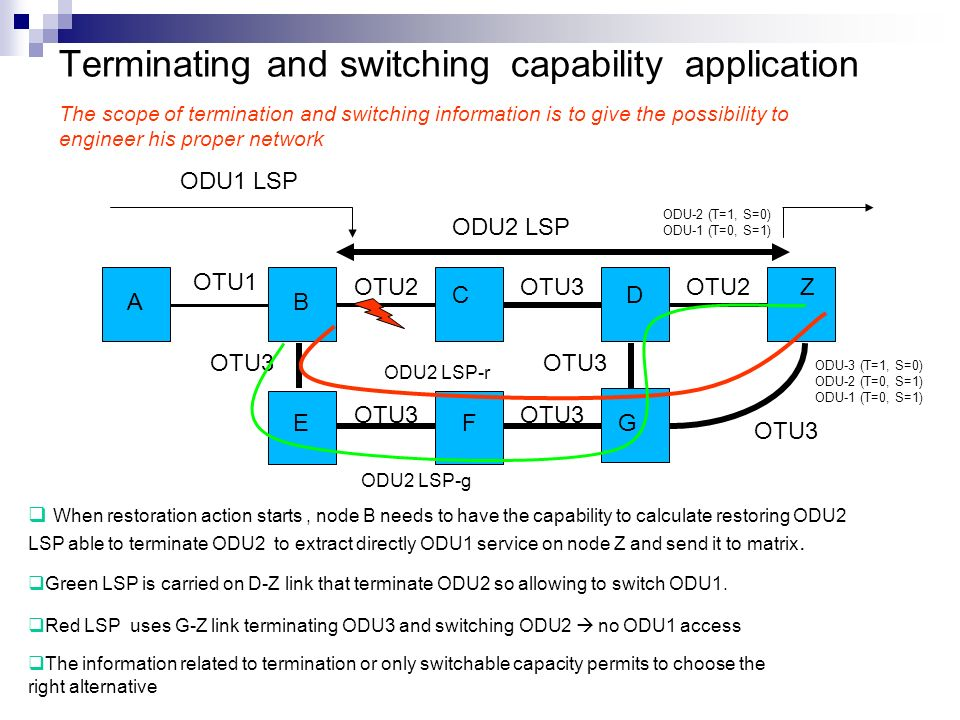 Multi-stage multiplexing considerations Multi-stage multiplexing placeholder is already present in [OTN-FWK] and [OTN-INFO] version 1 but not yet progressed in the latest updates Various aspects require further investigation, e.g.: Clarification is needed about the role of intermediate stages :are they mapping stages or networkable entities .