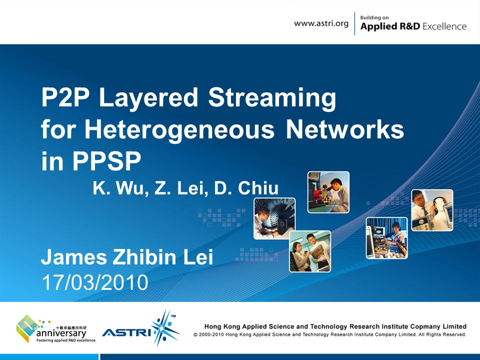 1 P2P Layered Streaming for Heterogeneous Networks in PPSP K.