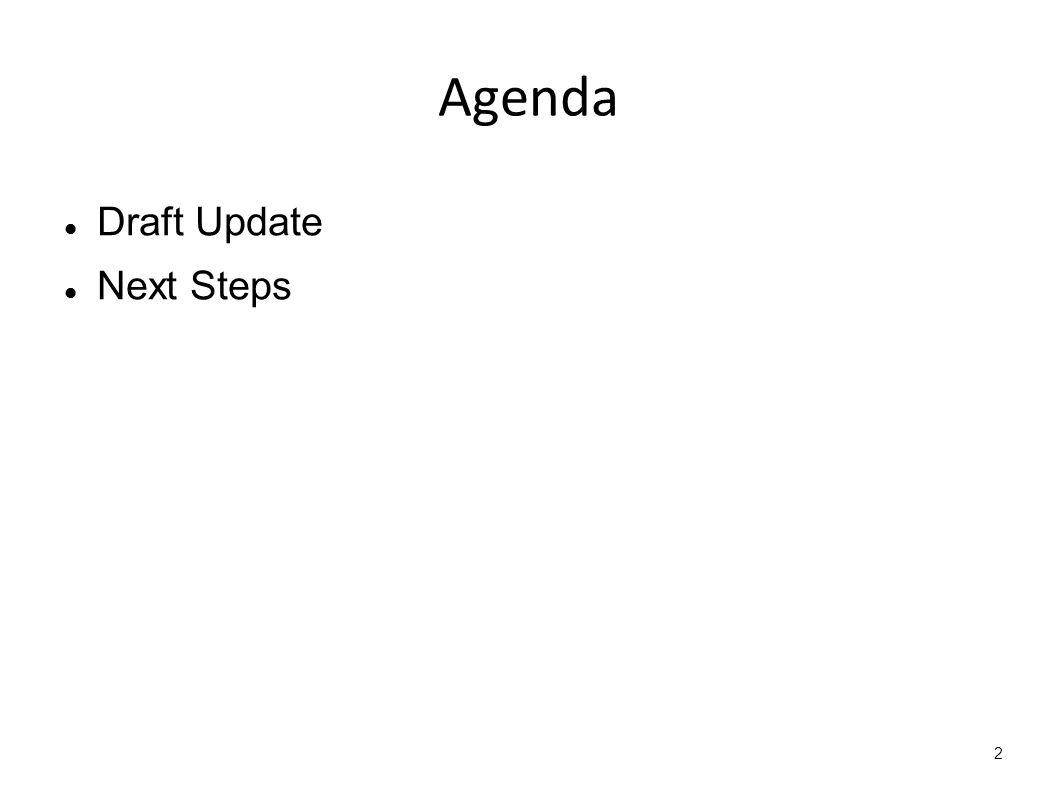 2 Agenda Draft Update Next Steps