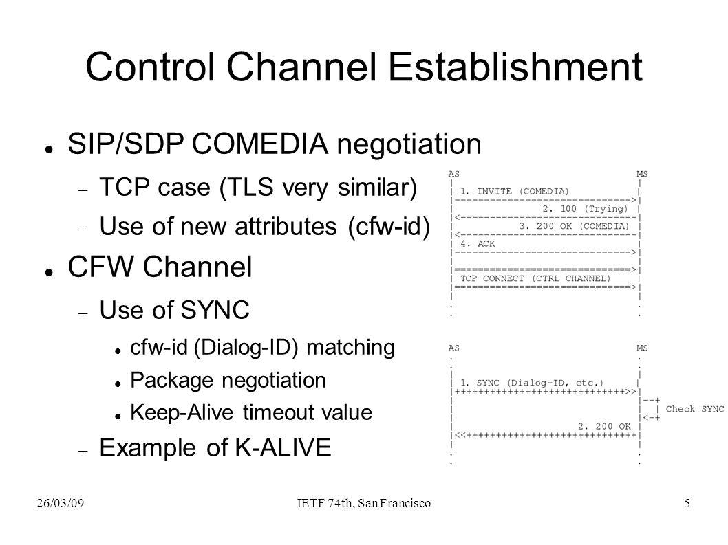 26/03/09IETF 74th, San Francisco6 Use case scenarios Many scenarios are depicted Echo Tests, IVR Menus, Conferences, etc.
