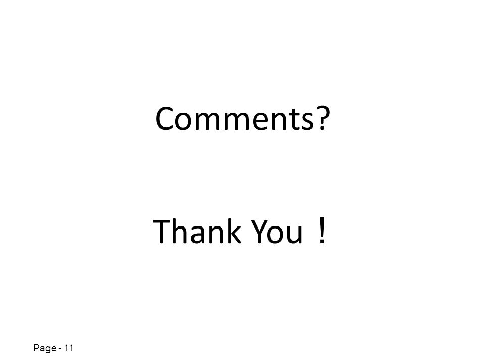 Page - 11 Thank You Comments