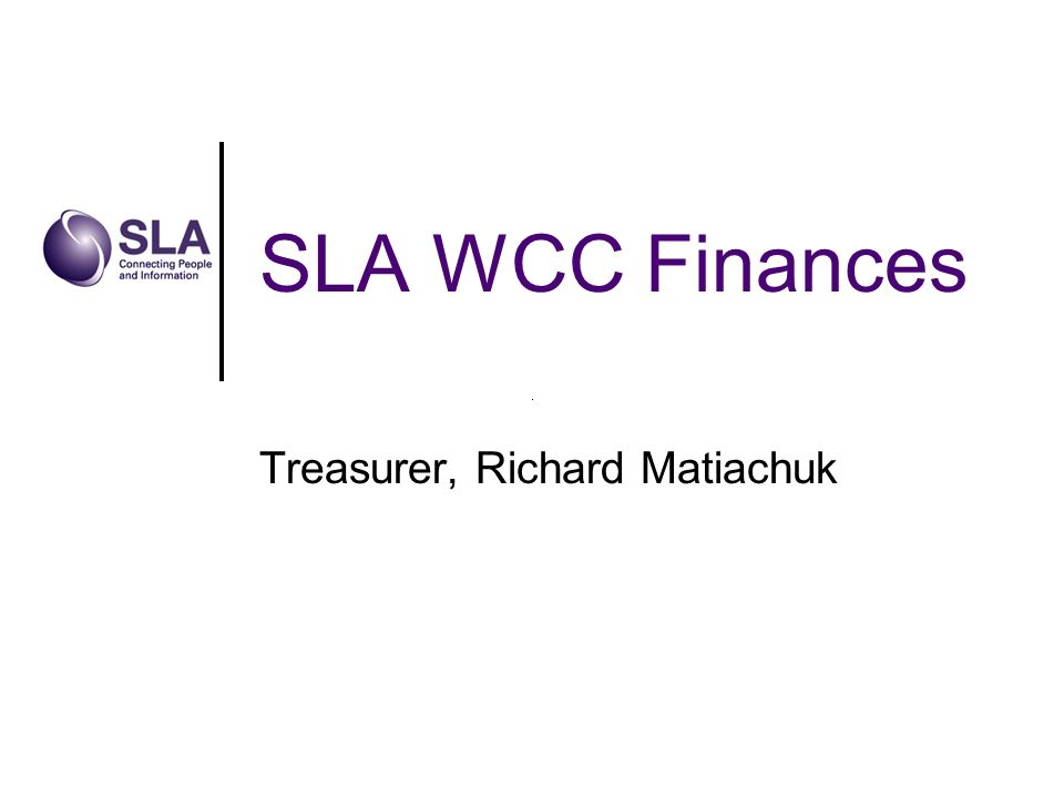 SLA WCC Finances Treasurer, Richard Matiachuk