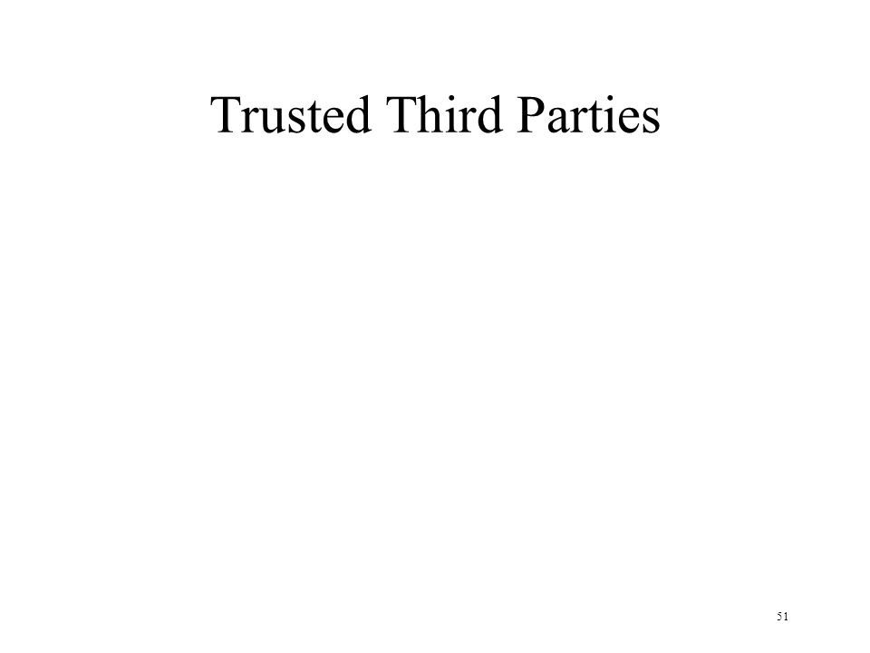 51 Trusted Third Parties