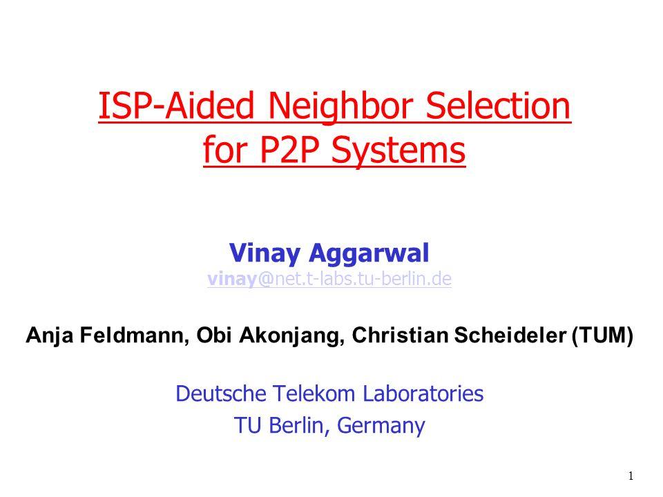 2 P2P traffic r >50% of Internet traffic m Examples: Bittorrent, eDonkey, Skype, GoogleTalk… Internet traffic distribution 2007 (Germany) Source: ipoque GmbH (Nov 2007)