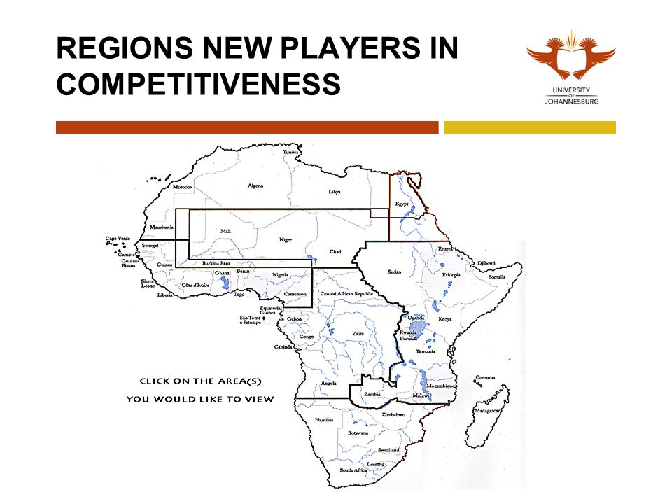 REGIONS NEW PLAYERS IN COMPETITIVENESS
