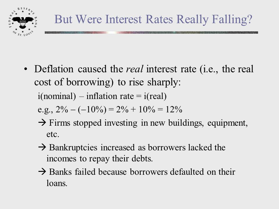 But Were Interest Rates Really Falling.