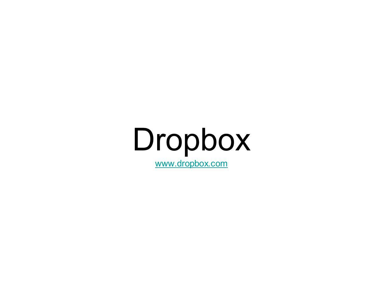 Dropbox www.dropbox.com www.dropbox.com